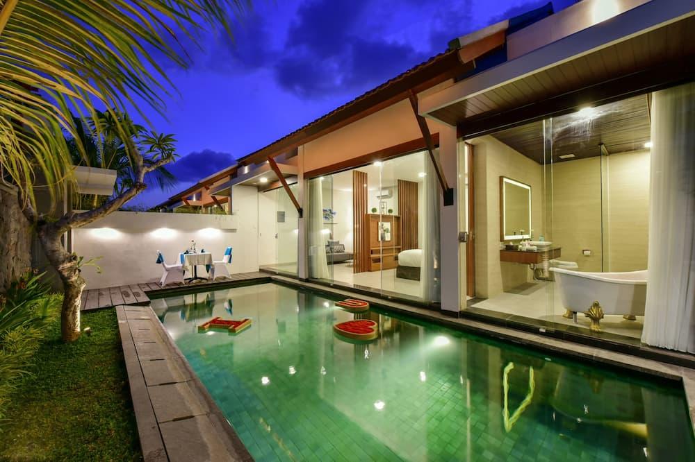 Luxus villa, 1 hálószobával - Saját medence