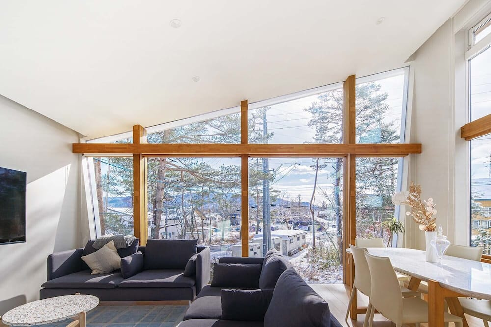 Luksus-hus - 2 soveværelser - bjergudsigt - Opholdsområde