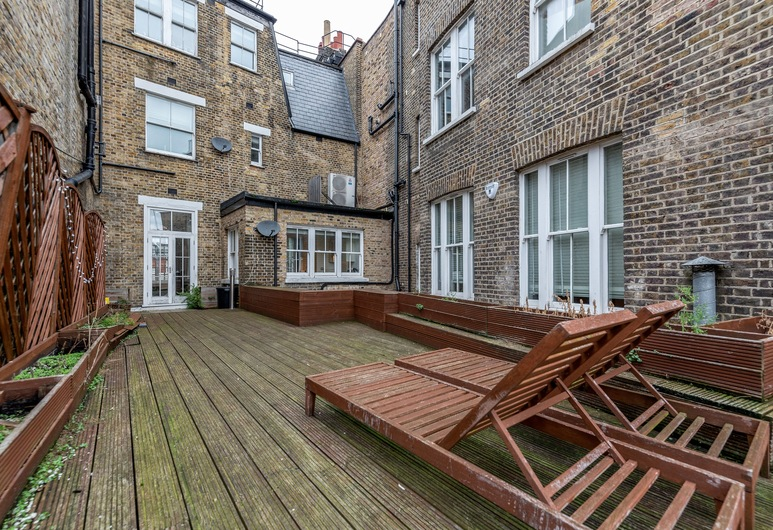 Stylish 3 Bed 3 bath in Kens High St, London, Luxury-Apartment, 3Schlafzimmer, Terrasse/Patio