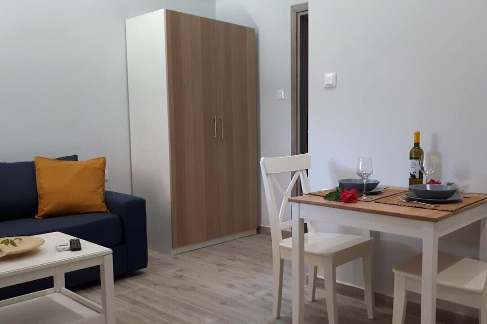 Departamento, terraza - Servicio de comidas en la habitación