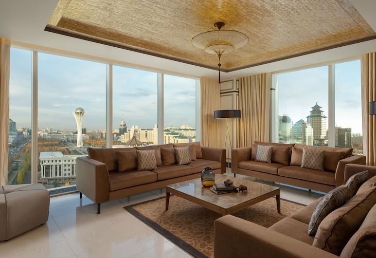 Отель SheratonNur-Sultan, Нур-Султан, Президентский люкс, 1 двуспальная кровать, для некурящих, Номер