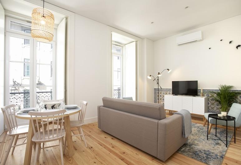 Montebelo Lisbon Downtown Apartments, Lissabon, Standaard appartement, 1 slaapkamer, Woonruimte