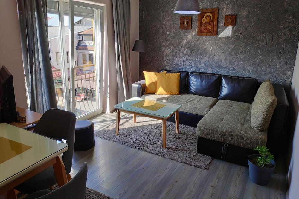 Apartment, Stadtblick - Wohnbereich