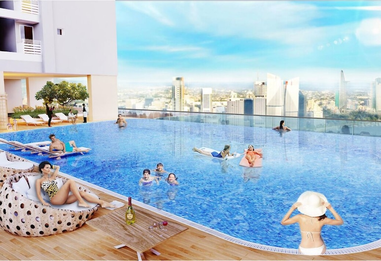 Deluxe Apartment with City Central View, Ho Chi Minh-Stad, Buitenzwembad