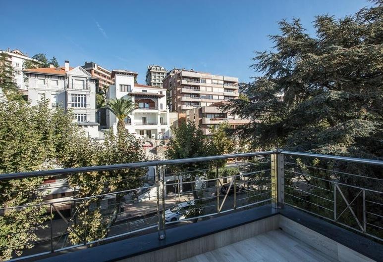 El Balcón de la Bahía Suites, Santander, Deluxe-Doppelzimmer, Terrasse, Balkon