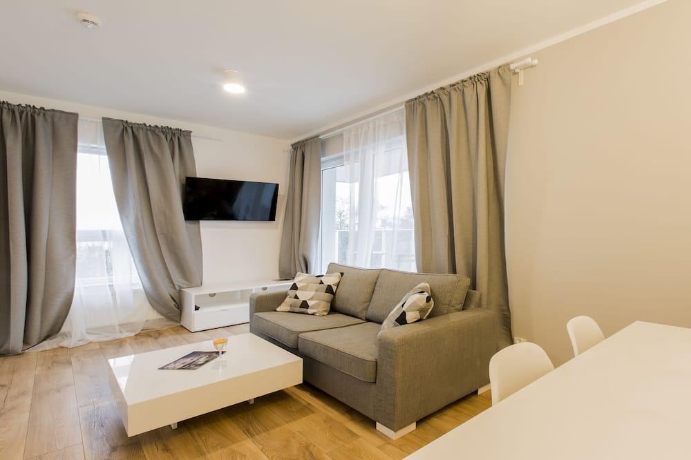 コンフォート アパートメント バルコニー - リビング エリア