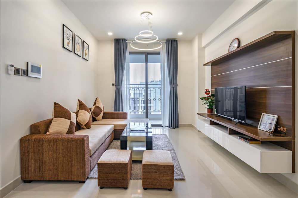 Căn hộ, 1 phòng ngủ, Quang cảnh thành phố - Khu phòng khách
