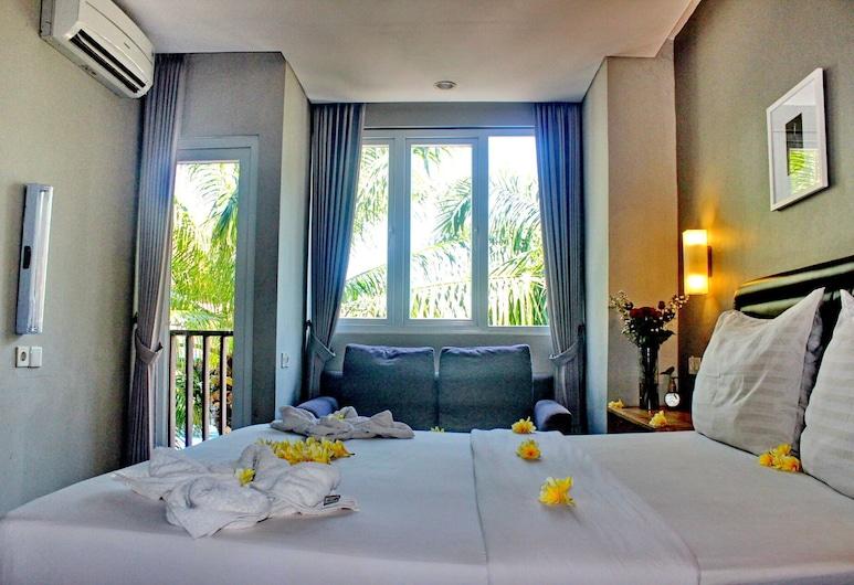 Kuta Beach Stay, Kuta, Deluxe Double Room, Bilik Tamu
