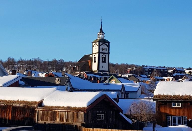 Erzscheidergarden, Roros, Stadsutsikt från boendet