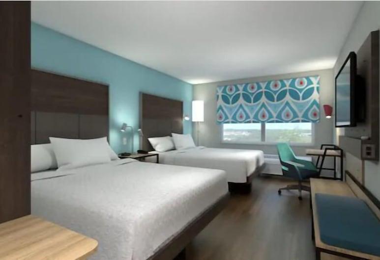Tru by Hilton Austin Airport, TX, Austin, Soba, 2 queen size kreveta, pristup za osobe s invalidnošću (Hearing), Soba za goste
