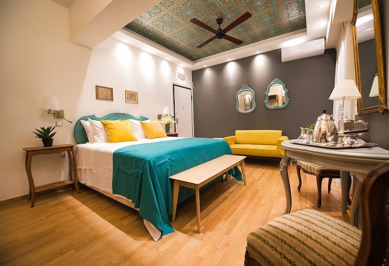 Rastoni Athens Suites κοντά στην Ακρόπολη, επί της οδού Τσάτσου, Αθήνα, Διαμέρισμα, Μπαλκόνι (Alkyone), Δωμάτιο επισκεπτών