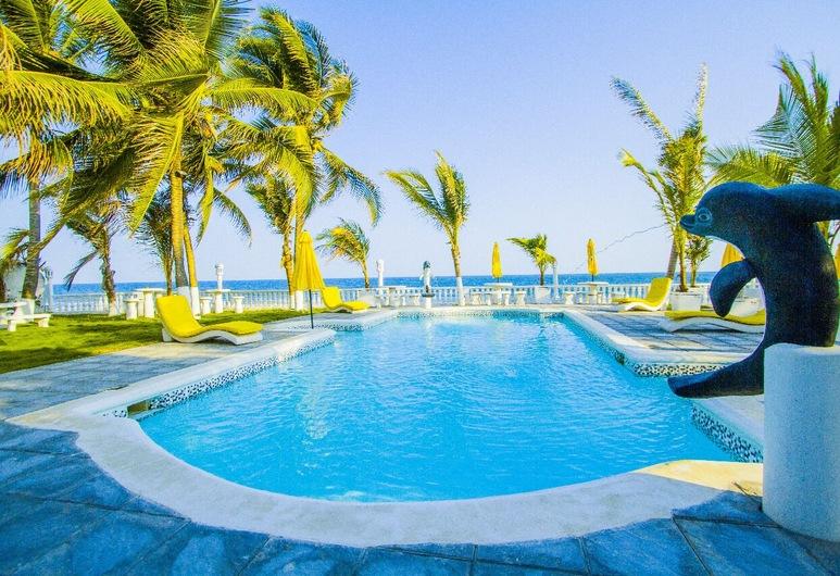 Hotel La Casona Beach, Iztapa, Открытый бассейн