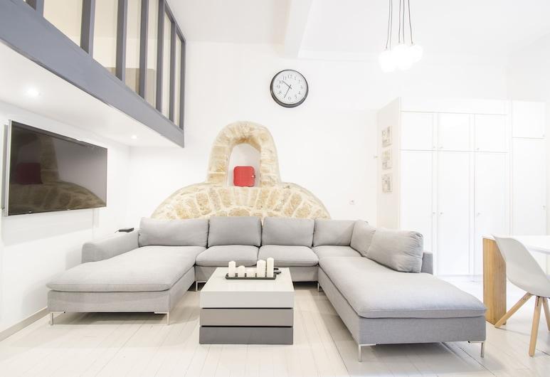 Dreamyflat - Loft in the marais, Paris, Apartment, Living Room