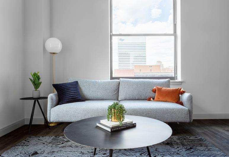 The Guild Downtown  | Vine St, Cincinnati, Apartmá, dvojlůžko (180 cm), Obývací prostor