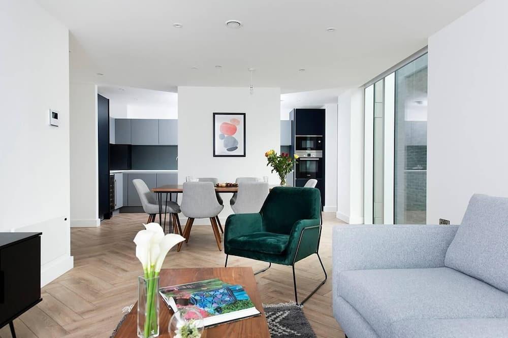 Loftový byt, 3 spálne - Obývačka
