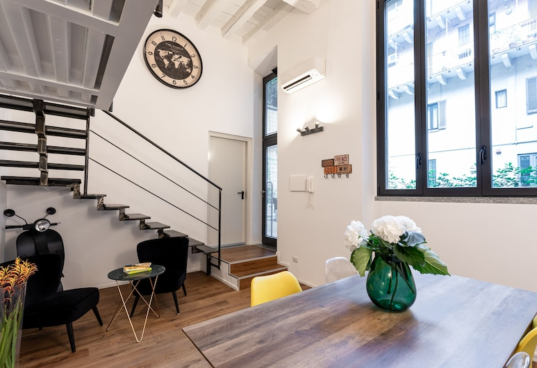 BePlace Apartments in Isola, Milan, Apartment, Living Area