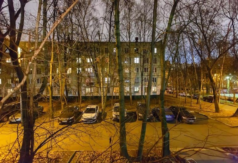 Brusnika Apartment Novye Cheryomushki, Moskwa, Front obiektu – wieczór