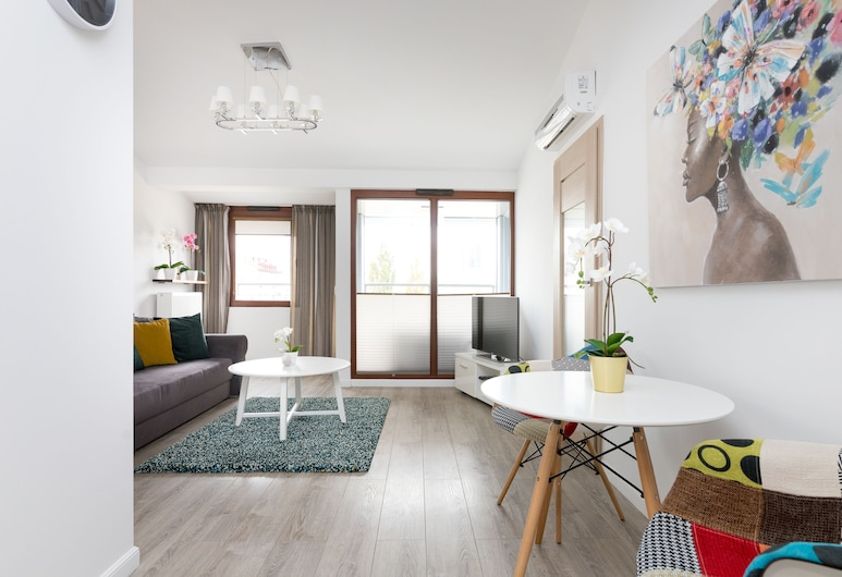 Panska Rondo Daszynskiego Apartment, Warsaw, Superior Apartment, Living Room