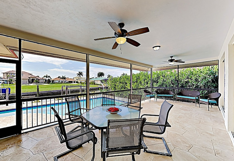 New Listing! Canal-side W/ Pool & Boat Dock 3 Bedroom Home, Marco Island, House, 3 Bedrooms, Balcony