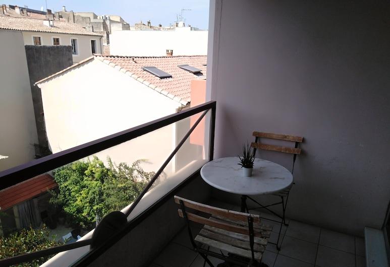 Appart-hôtel Résidence la Servie, Nîmes, סטודיו (3 pl), מרפסת