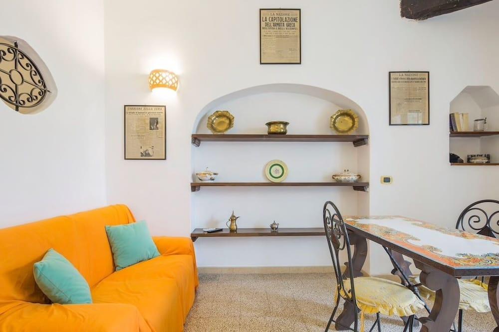 Traditional-Apartment, 1 Schlafzimmer - Wohnbereich