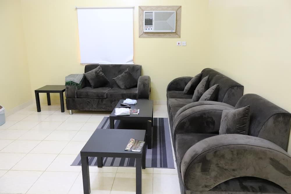 Design külaliskorter, 2 magamistoaga - Lõõgastumisala