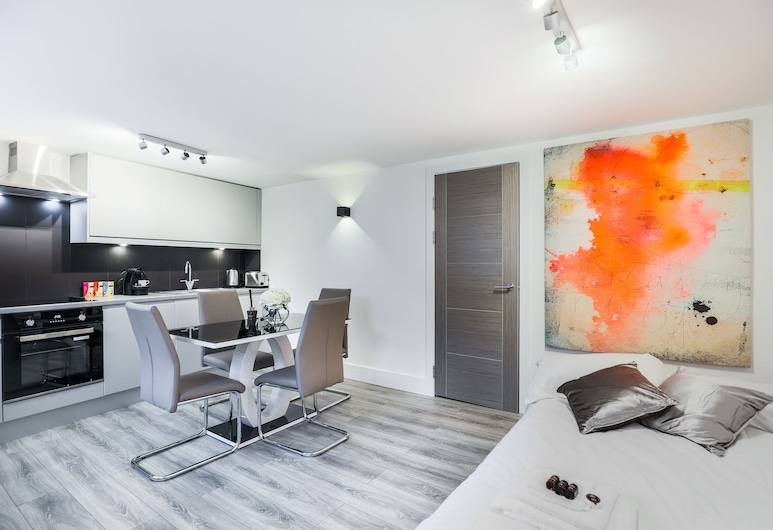 Fulham Apartment by Emerald, Londen, Appartement, privébadkamer (1 Bedroom), Restaurant