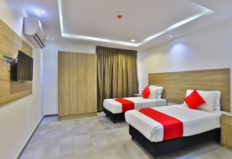 OYO 312 Manazel Al Karam Furnished Apart, Jeddah, Deluxe-lejlighed - 2 soveværelser, Værelse