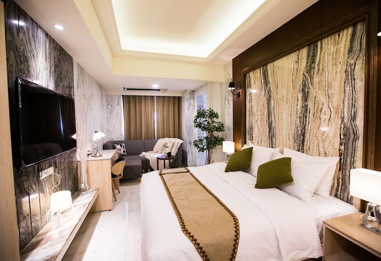 楓華沐月商務旅館台灣大道行館, 台中市, 尊尚雙人房, 客房