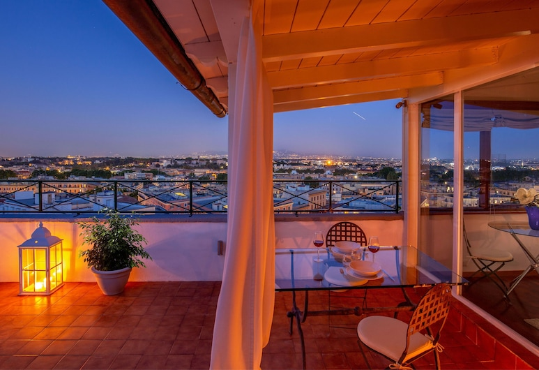 Gianicolo Penthouse - Daplace Apartments, Rome, Apartment, 1 Bedroom, Terrace/Patio