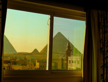 Bild vom Pyramid edge in Giza