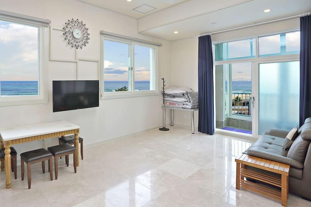 חדר דה-לוקס, נוף לאוקינוס - אזור מגורים
