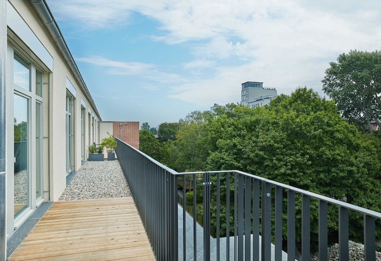 Park Penthouses Insel Eiswerder, Berlin, Deluxe-Apartment, 1 Schlafzimmer, Balkon