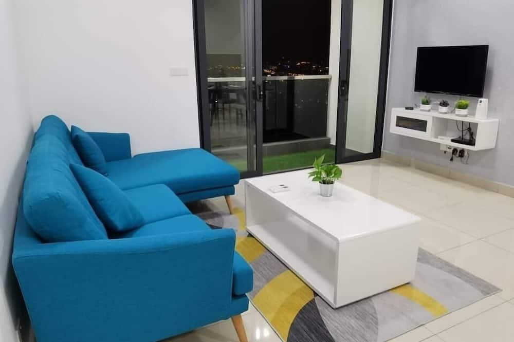 Premium Condo, 2 Bedrooms, Non Smoking, Sea View - Living Room