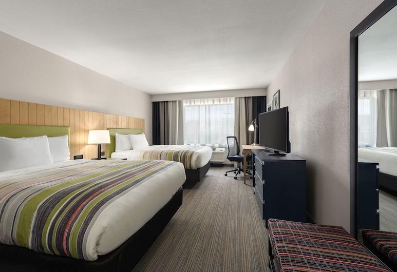 Country Inn & Suites by Radisson, Oklahoma City-Bricktown, OK, Oklahoma Sitis, Kambarys, 2 didelės dvigulės lovos, Nerūkantiesiems, Svečių kambarys