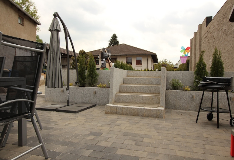 Familienfreundliches Ferienhaus, Kroepelin, Terraza o patio