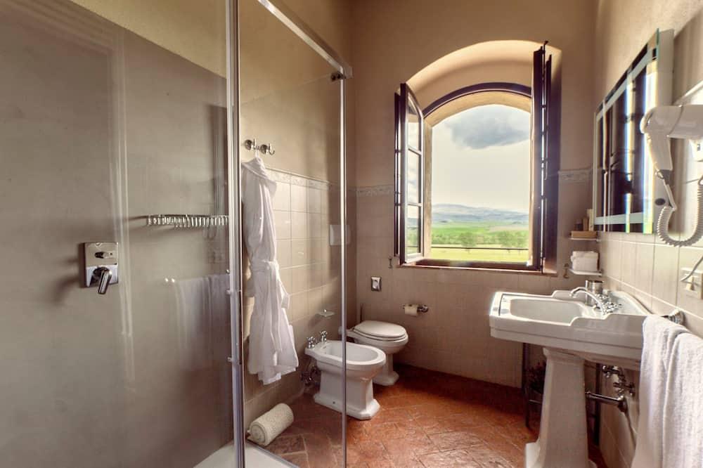 Pokoj Deluxe s dvojlůžkem (Val d'Orcia) - Koupelna