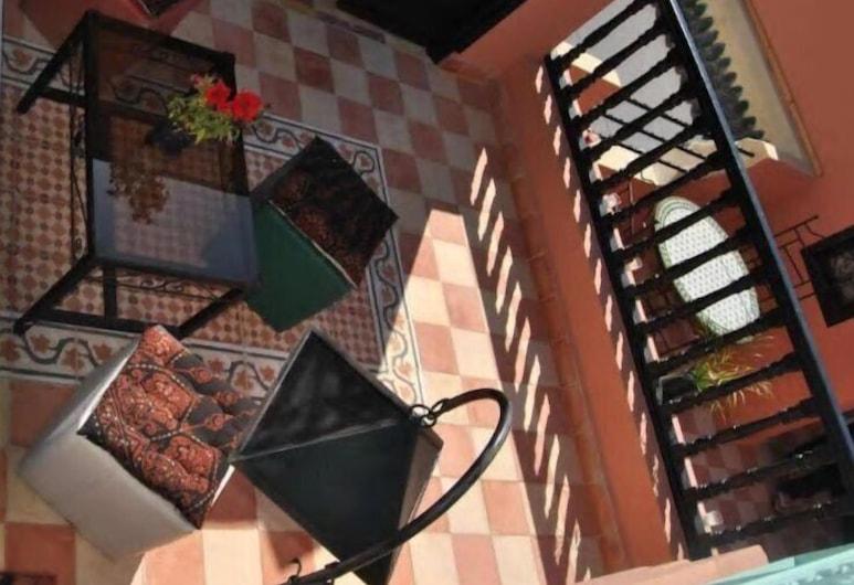 Happy Riad, Marrakech, Terraço/Pátio Interior