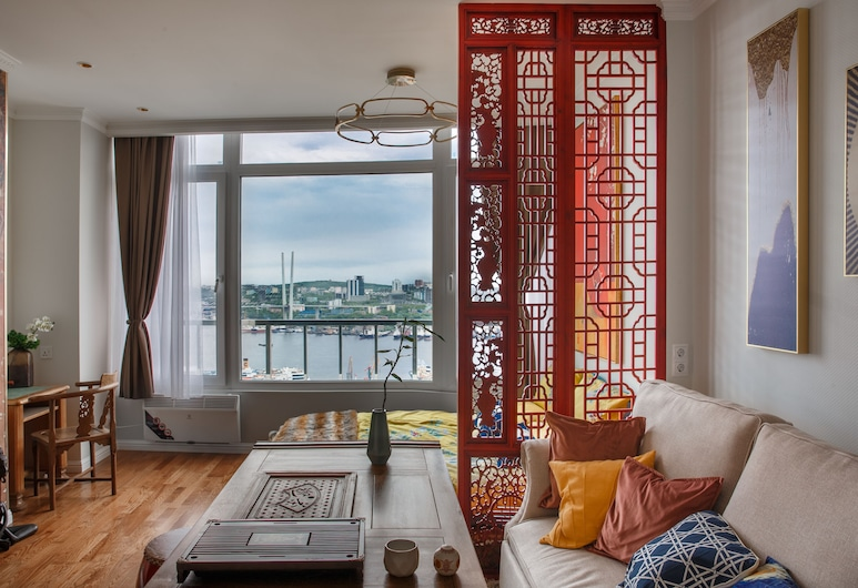 道之客房精品公寓飯店, 弗拉迪佛斯托克, 全景頂樓客房, 客房