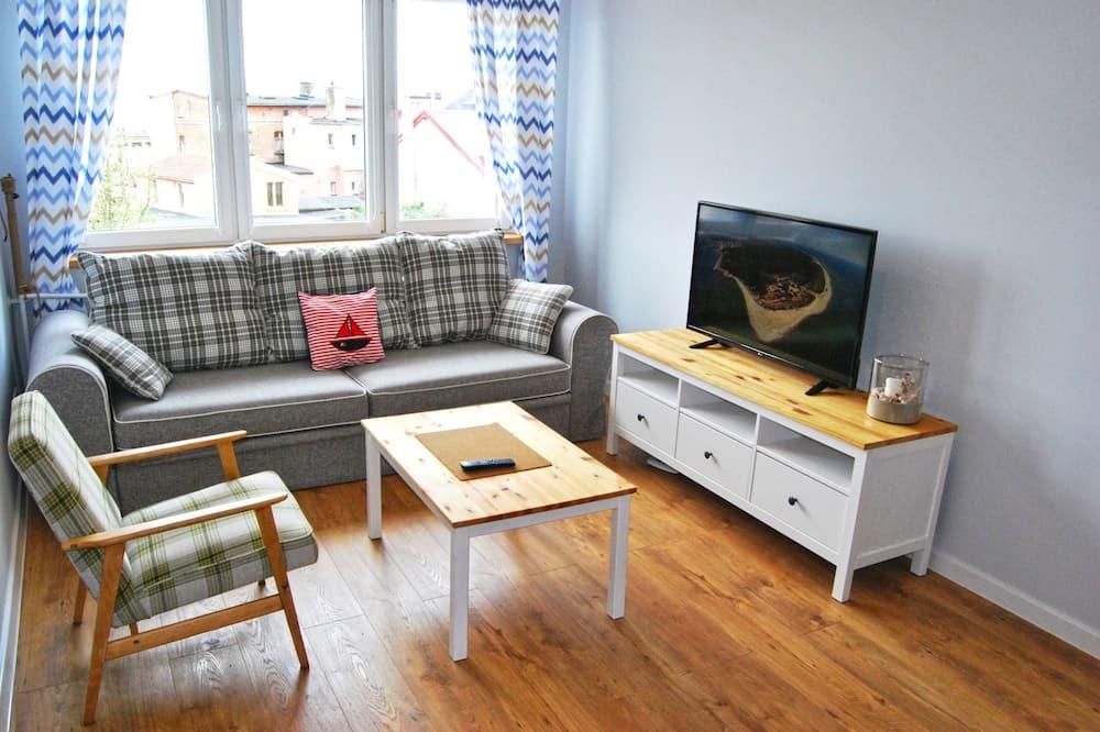 Apartamentai, vaizdas į jūrą - Svetainės zona