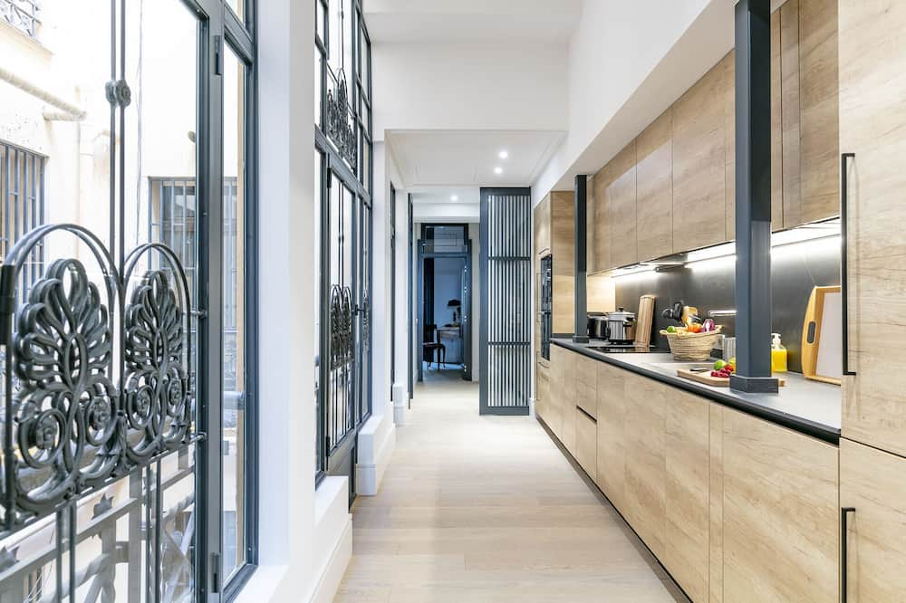 Apartmán, 2 spálne, nefajčiarska izba, na prízemí - Súkromná kuchyňa