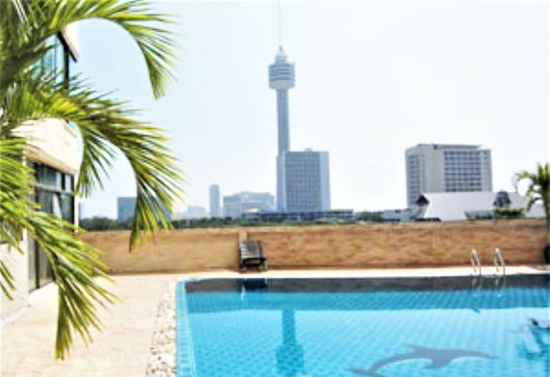 Thepthip Mansion Pratumak, Pattaya, Căn hộ, 1 giường cỡ queen, Hồ bơi