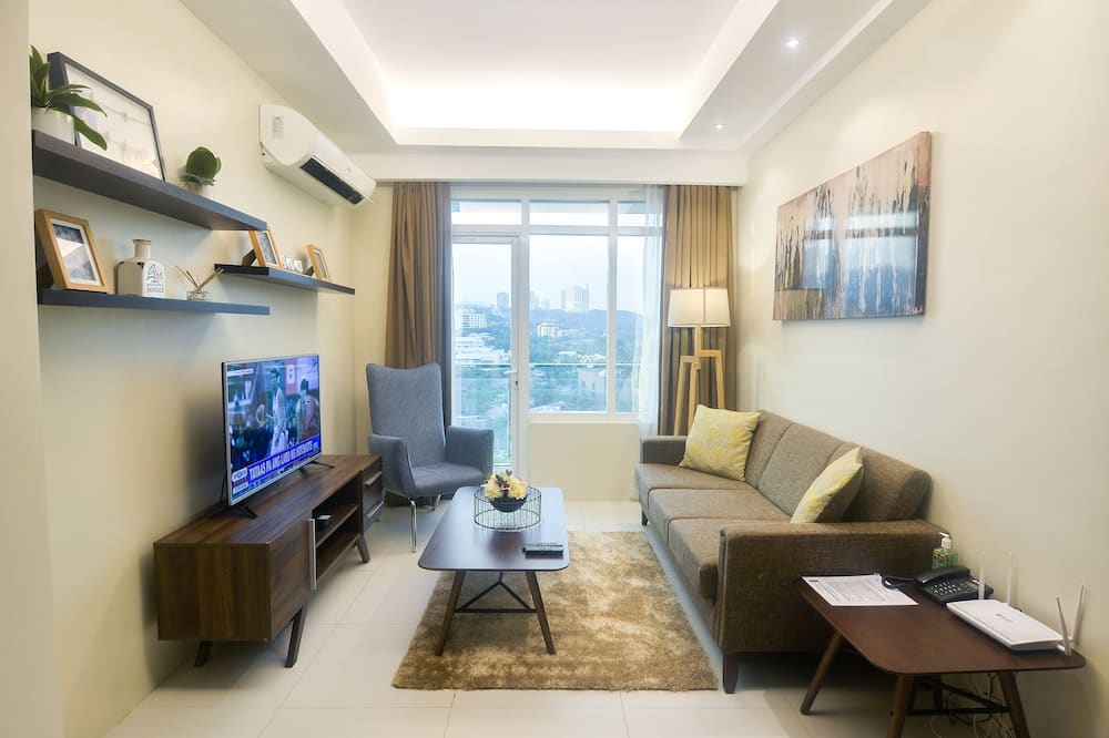 Lägenhet - 1 sovrum (Spacious Clean, near Ayala Mall) - Vardagsrum