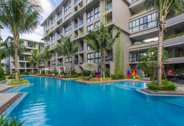 방타오 해변에 위치한 아파트 - 침실 1개, 900m, 초엥 탈레, 수영장