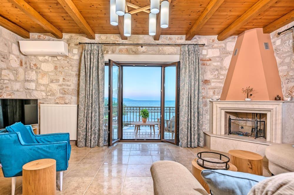 Villa - 4 sovrum - havsutsikt - mot vattnet - Vardagsrum