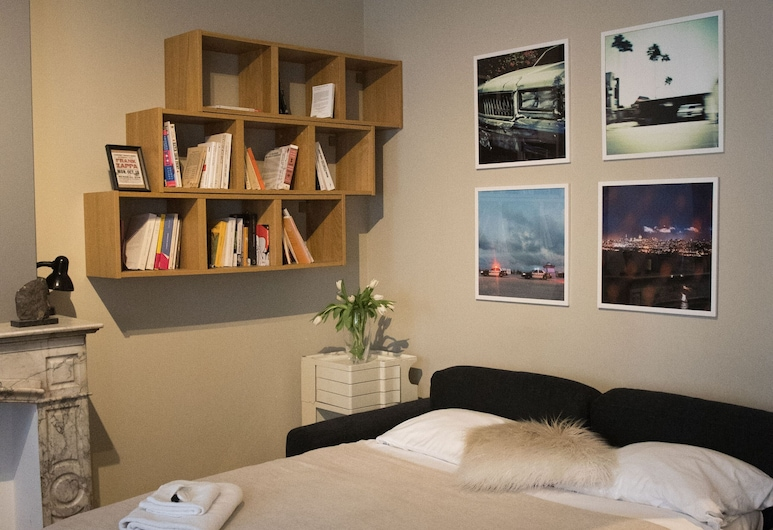 Lovely Apartment With Terrace, Brussels, Apartmán (1 Bedroom), Obývačka