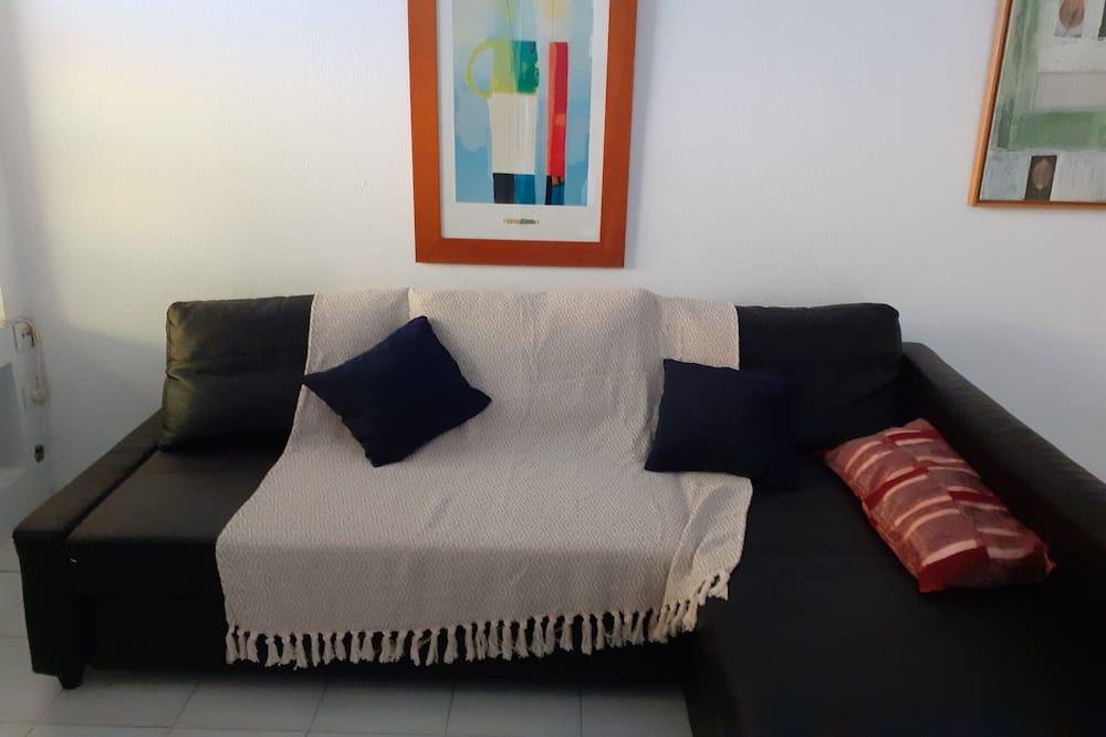 Apartamentai, 1 miegamasis, vaizdas į miestą - Svetainės zona