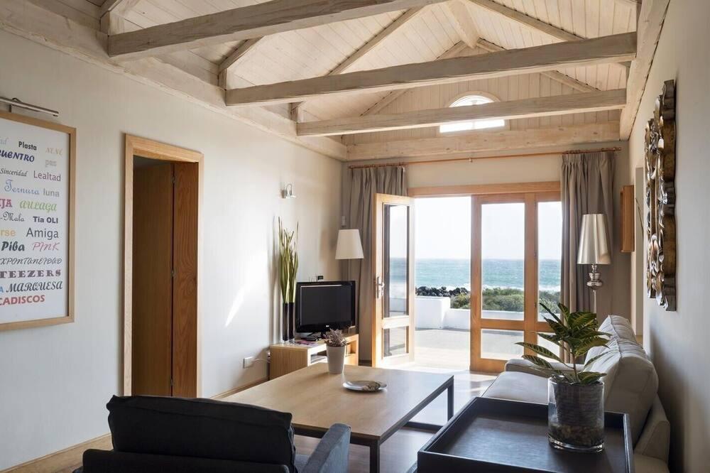 公寓, 2 间卧室, 海景 - 起居区