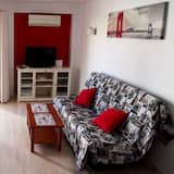 Apartment, 1 Schlafzimmer, Terrasse, Meerblick - Wohnzimmer