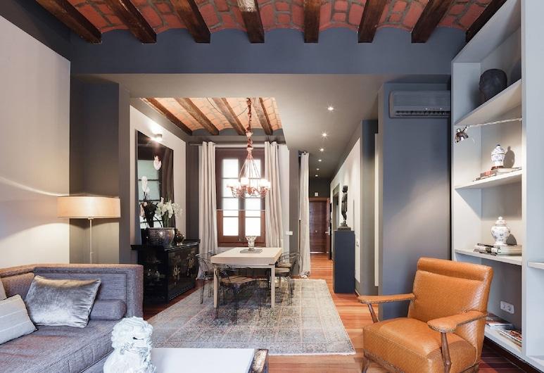 You Stylish City Center 3, Barcelona, Apartmán typu Superior, 2 spálne, Obývačka
